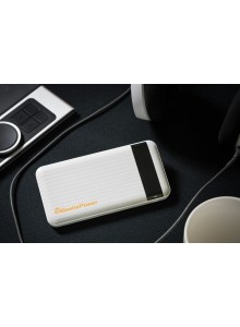 Beetle Fast Charging 10000mAh Power Bank - White