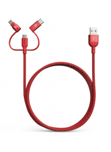 Adam Elements Peak Trio 120B Lightning Cable - Red