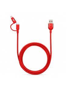 Adam Elements Peak Duo 120B Lightning Cable - Red