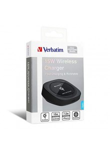 Verbatim 15W Rotatable Wireless Charger - Black  (6943760257205)
