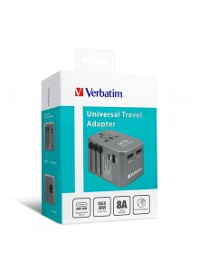 Verbatim 36W 4 Ports PD 29W Travel Adaptor - Grey  (6943760261981)