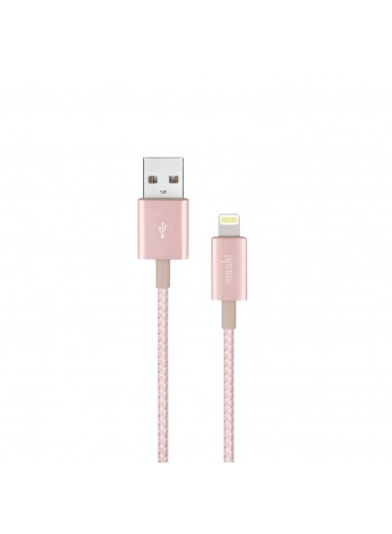 Moshi Integra USB-A Charge/Sync Cable with Lightning connector Golden Rose