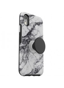 OTTERBOX OTTER + POP SYMMETRY iPhone XR, WHITE MARBLE