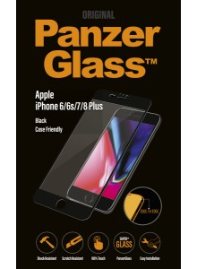 PanzerGlass CASE FRIENDLY iPhone 6/6s/7/8 Plus, Jet Black (2.5D)