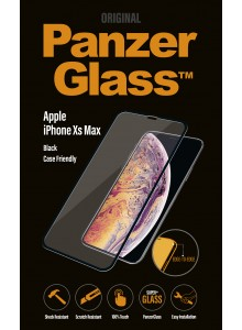 PanzerGlass CASE FRIENDLY iPhone Xs Max, Black  (2.5D)