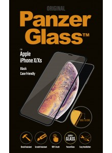 PanzerGlass CASE FRIENDLY iPhone X, Jet Black  (2.5D)