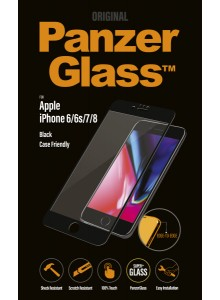 PanzerGlass CASE FRIENDLY iPhone 6/6s/7/8, Jet Black (2.5D)