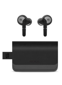 SOUL SUPERIOR TRUE WIRELESS EARPHONES WITH DUAL-MIC SYNC PRO - BLACK