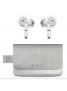 SOUL SUPERIOR TRUE WIRELESS EARPHONES WITH DUAL-MIC SYNC PRO - WHITE